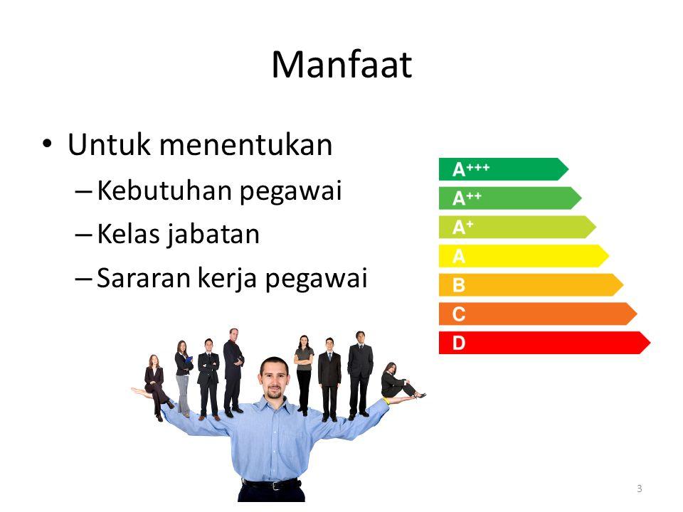 Manfaat Untuk menentukan Kebutuhan pegawai Kelas jabatan