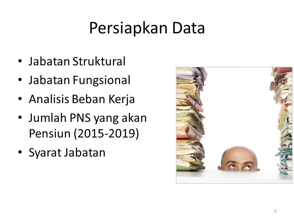 Persiapkan Data Jabatan Struktural Jabatan Fungsional