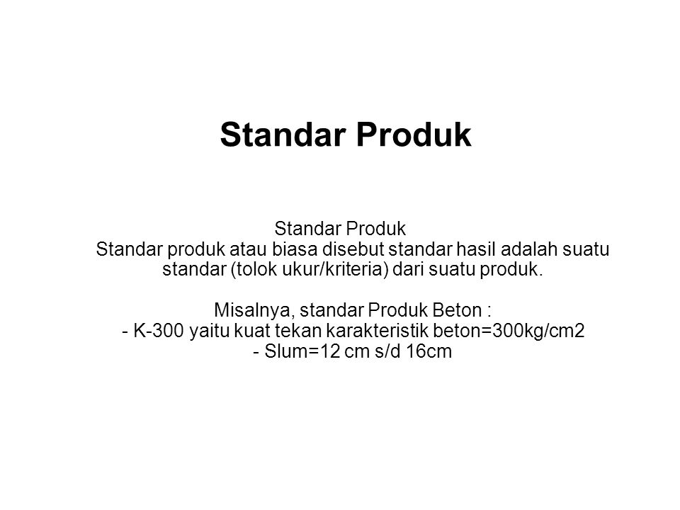 Standar Produk