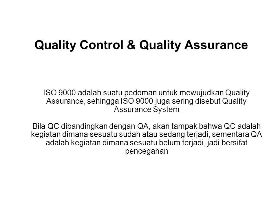 Quality Control & Quality Assurance