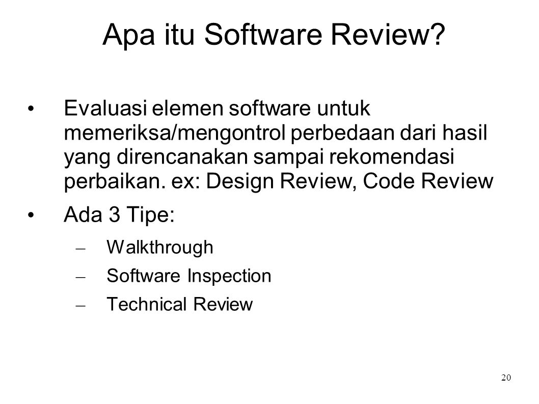 Apa itu Software Review