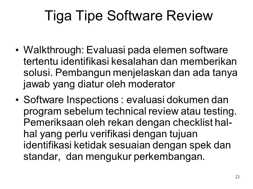 Tiga Tipe Software Review