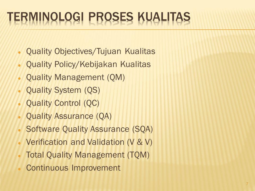 Terminologi Proses Kualitas
