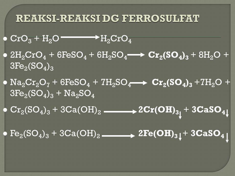 REAKSI-REAKSI DG FERROSULFAT