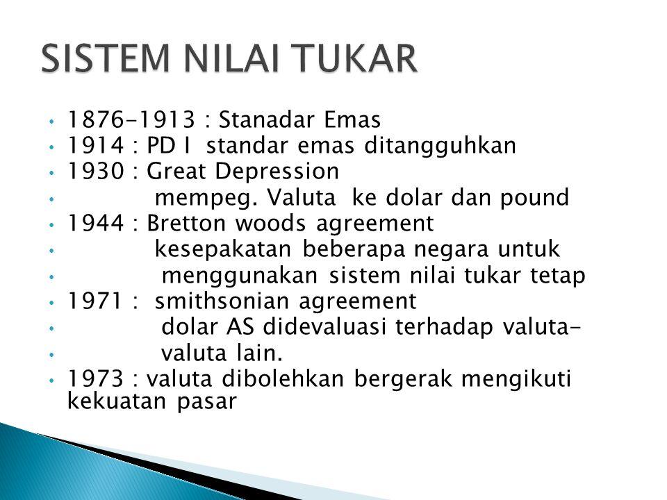 SISTEM NILAI TUKAR 1876-1913 : Stanadar Emas