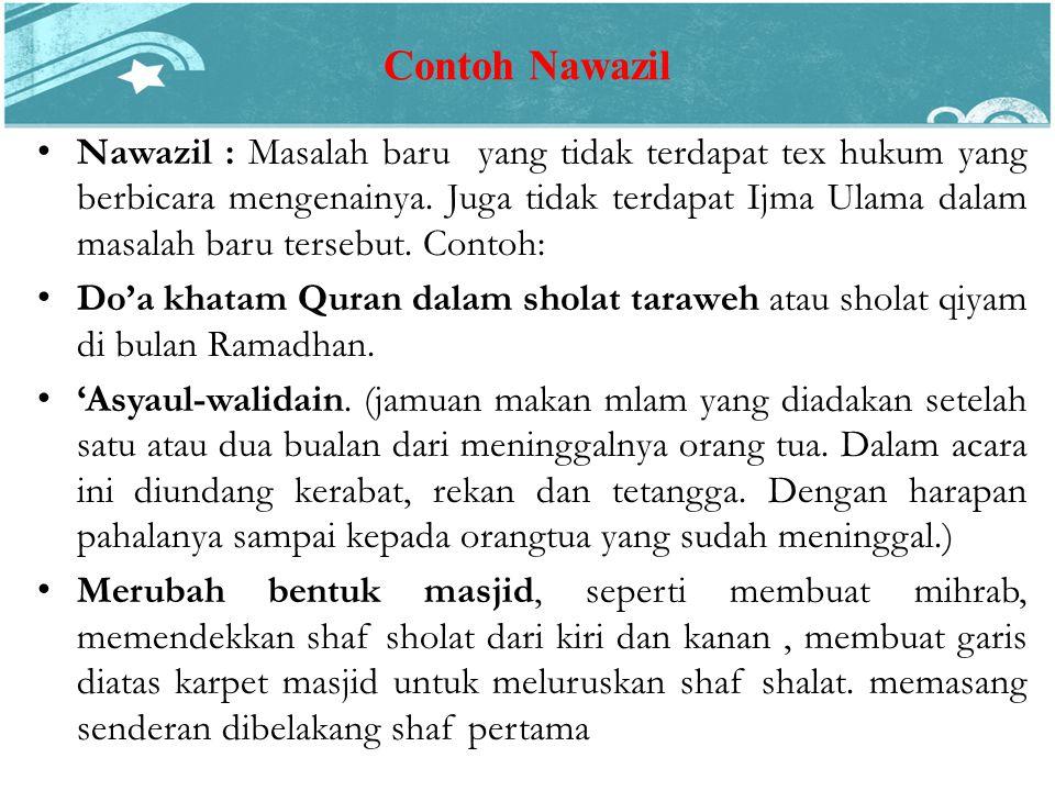 Contoh Nawazil