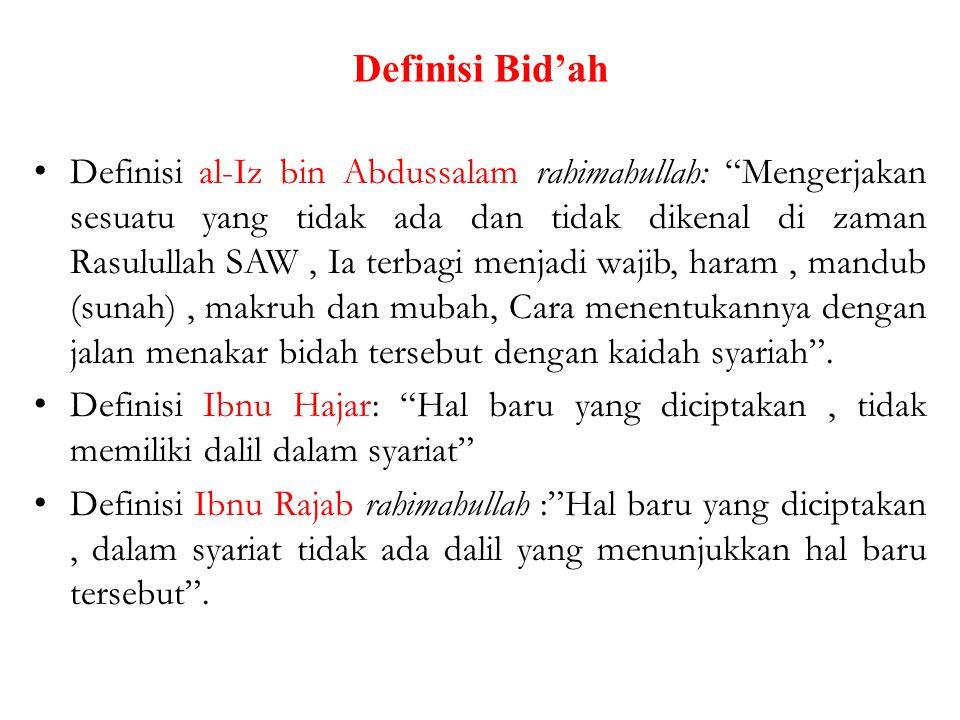 Definisi Bid'ah