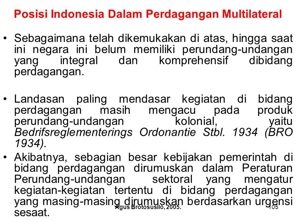Posisi Indonesia Dalam Perdagangan Multilateral
