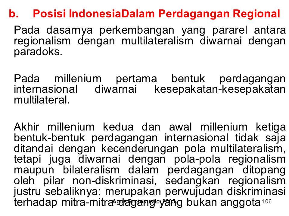Posisi IndonesiaDalam Perdagangan Regional