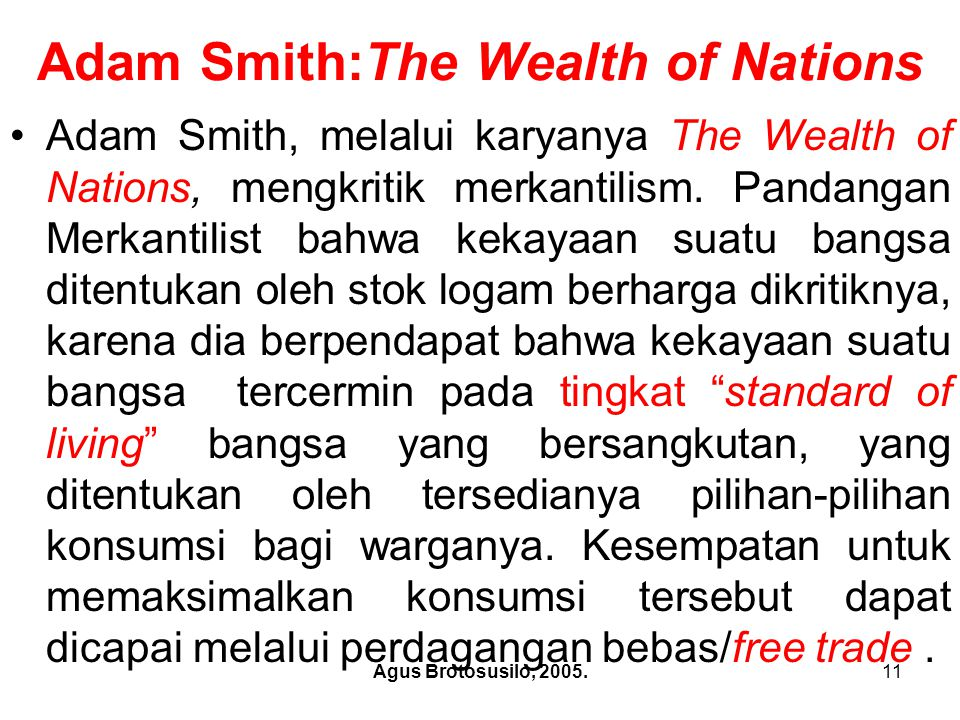 Adam Smith:The Wealth of Nations