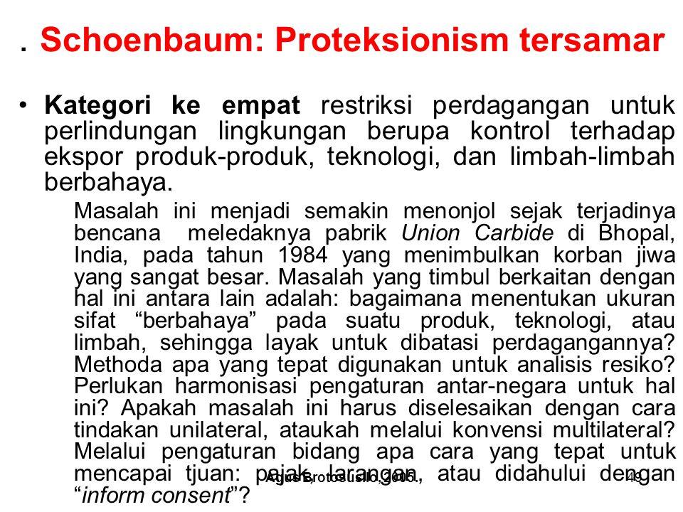 . Schoenbaum: Proteksionism tersamar