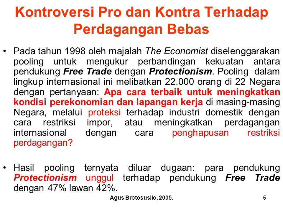 Kontroversi Pro dan Kontra Terhadap Perdagangan Bebas