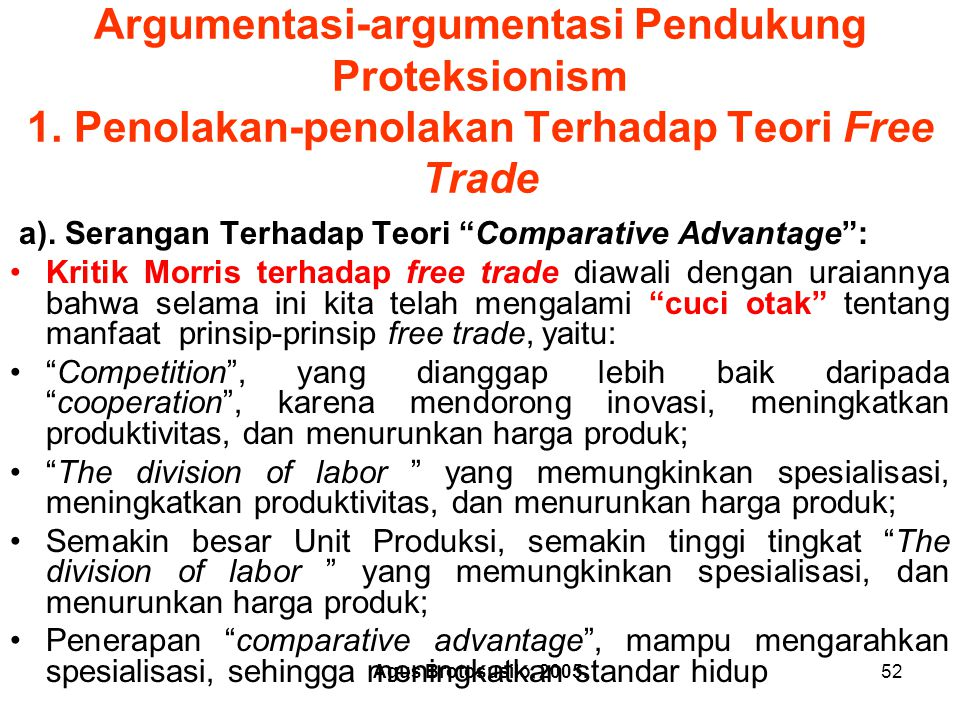 Argumentasi-argumentasi Pendukung Proteksionism 1