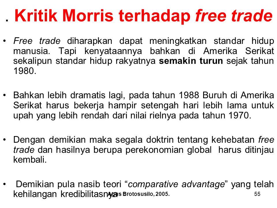 . Kritik Morris terhadap free trade
