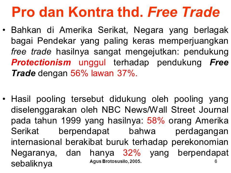Pro dan Kontra thd. Free Trade