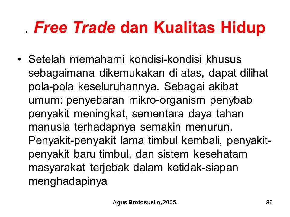 . Free Trade dan Kualitas Hidup