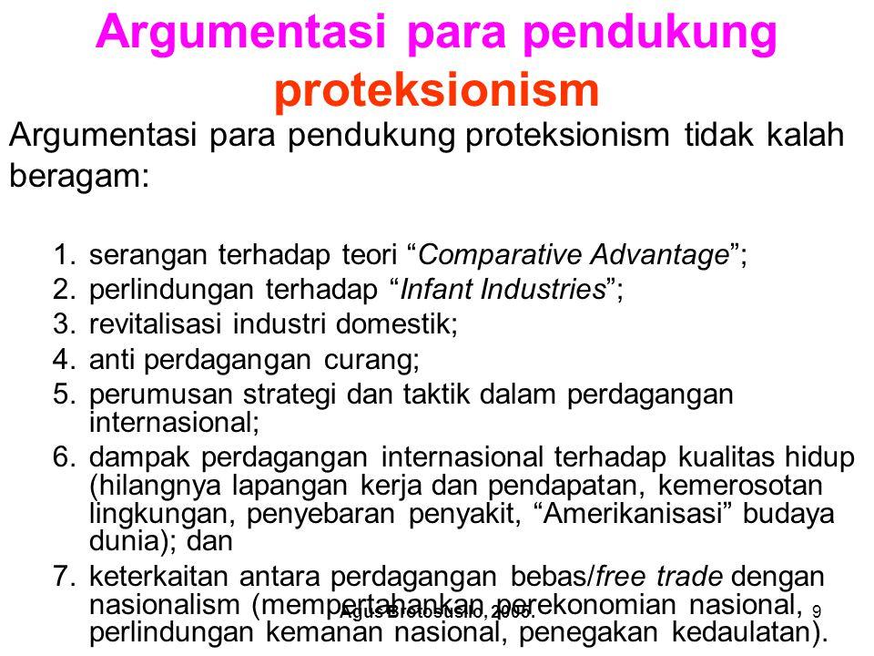 Argumentasi para pendukung proteksionism