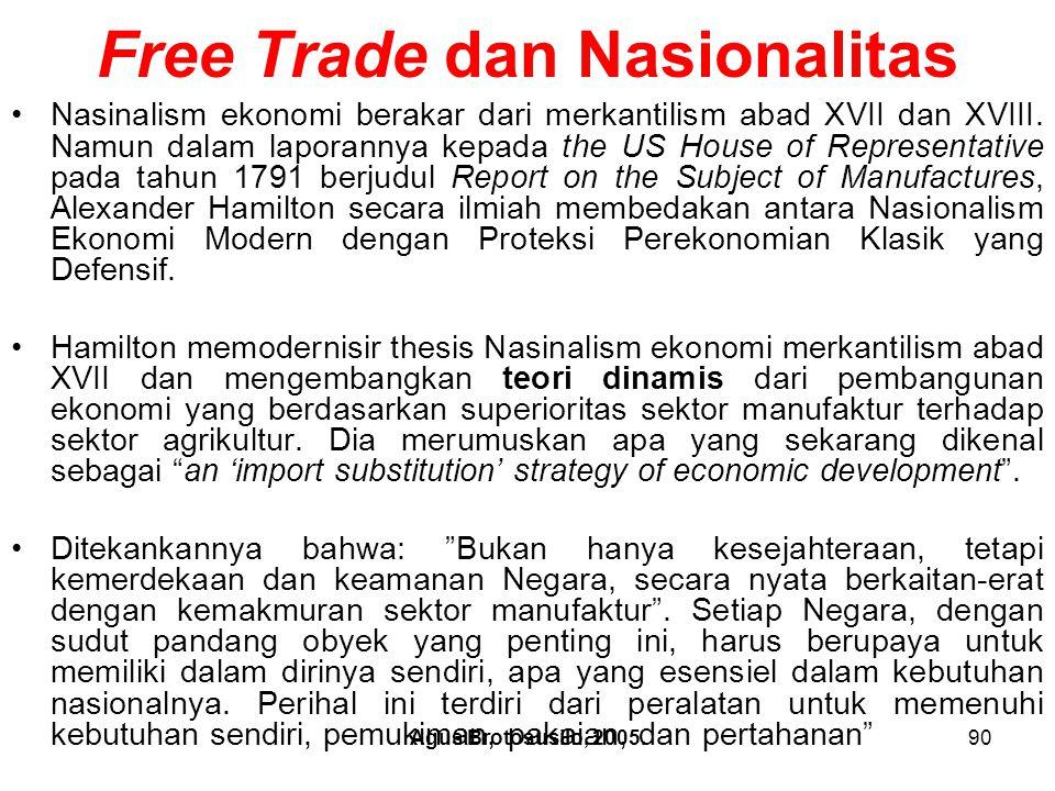 Free Trade dan Nasionalitas