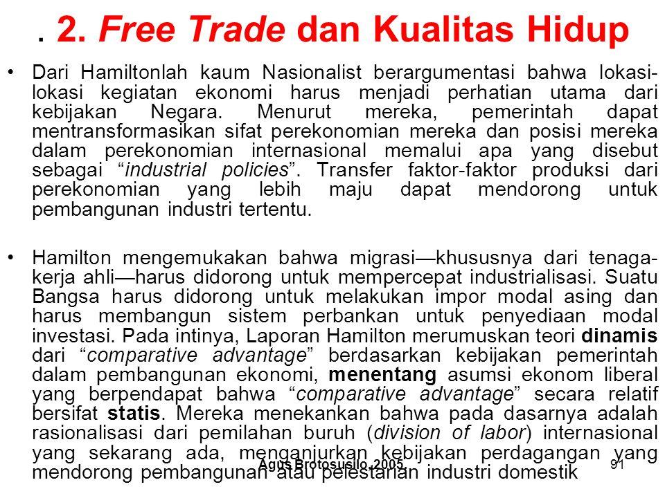 . 2. Free Trade dan Kualitas Hidup