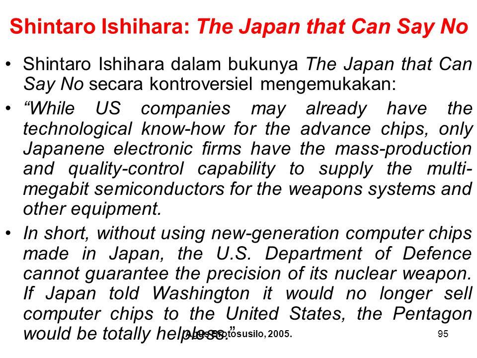 Shintaro Ishihara: The Japan that Can Say No