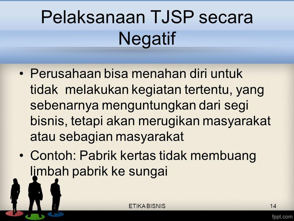 Pelaksanaan TJSP secara Negatif