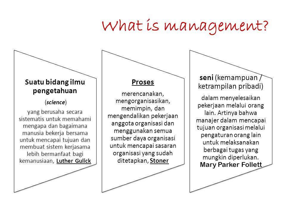 What is management seni (kemampuan / ketrampilan pribadi)