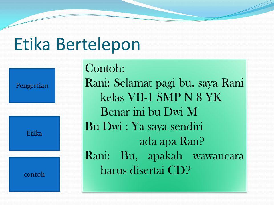 Etika Bertelepon Contoh: