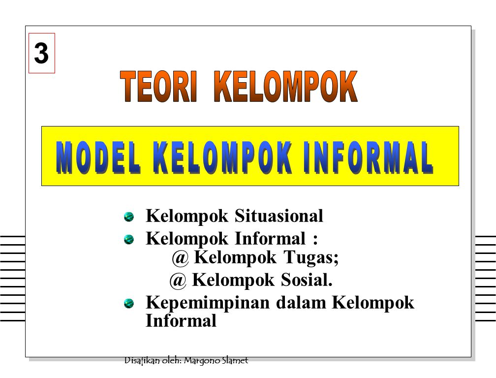 MODEL KELOMPOK INFORMAL
