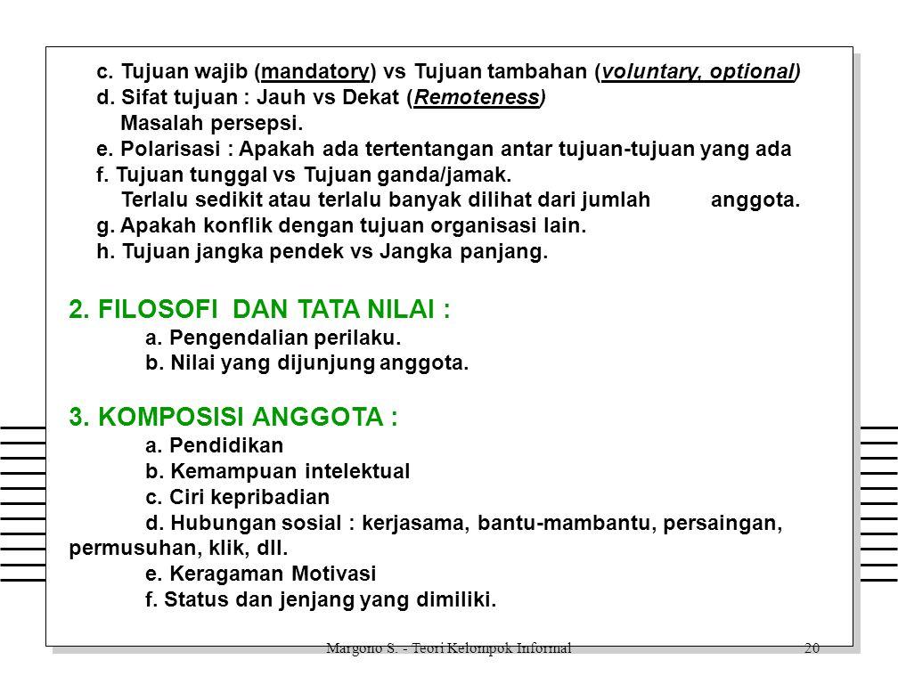Margono S. - Teori Kelompok Informal