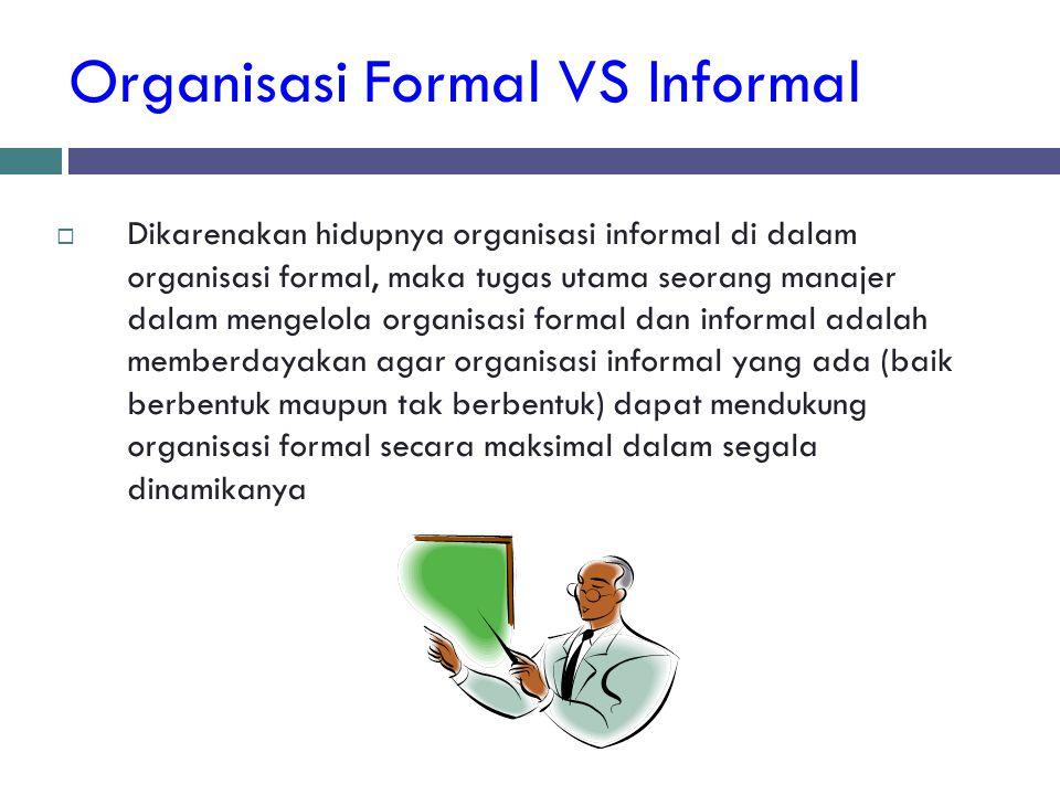 Organisasi Formal VS Informal