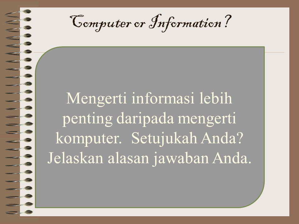 Computer or Information