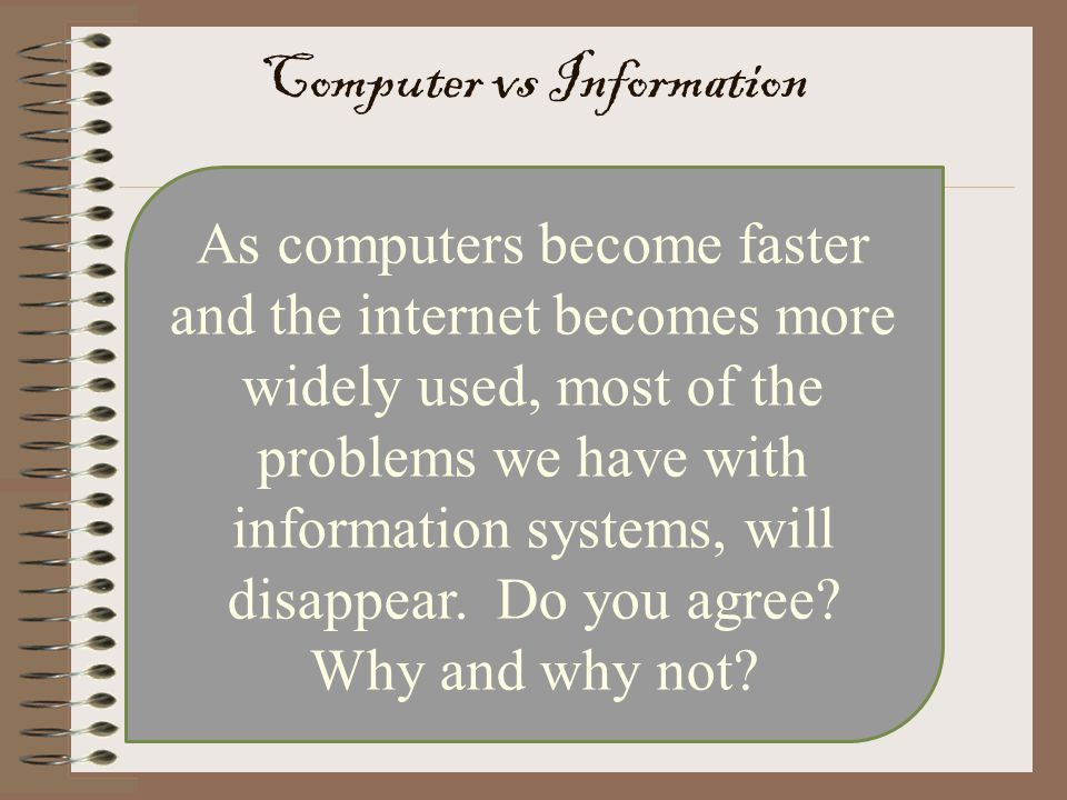 Computer vs Information