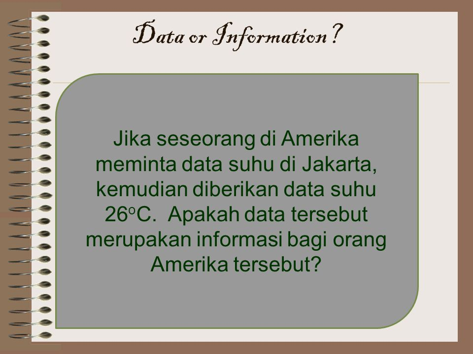 Data or Information
