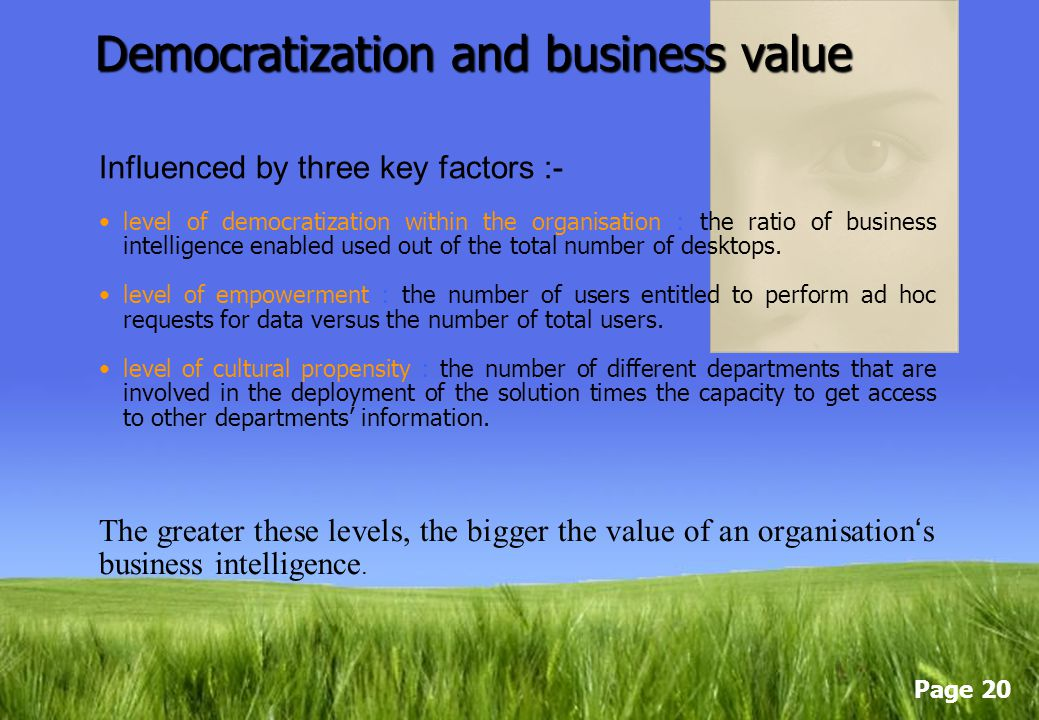 Democratization and business value