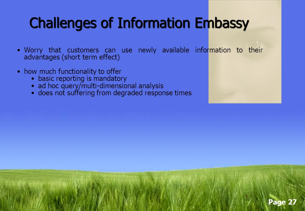 Challenges of Information Embassy