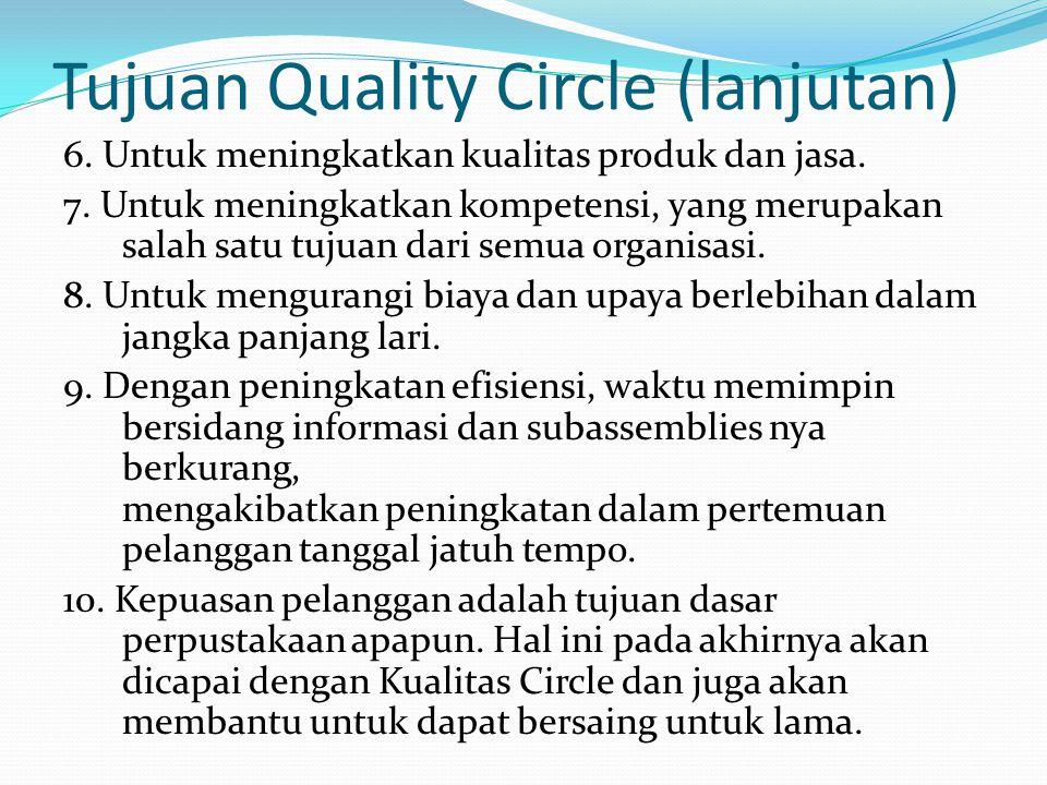 Tujuan Quality Circle (lanjutan)