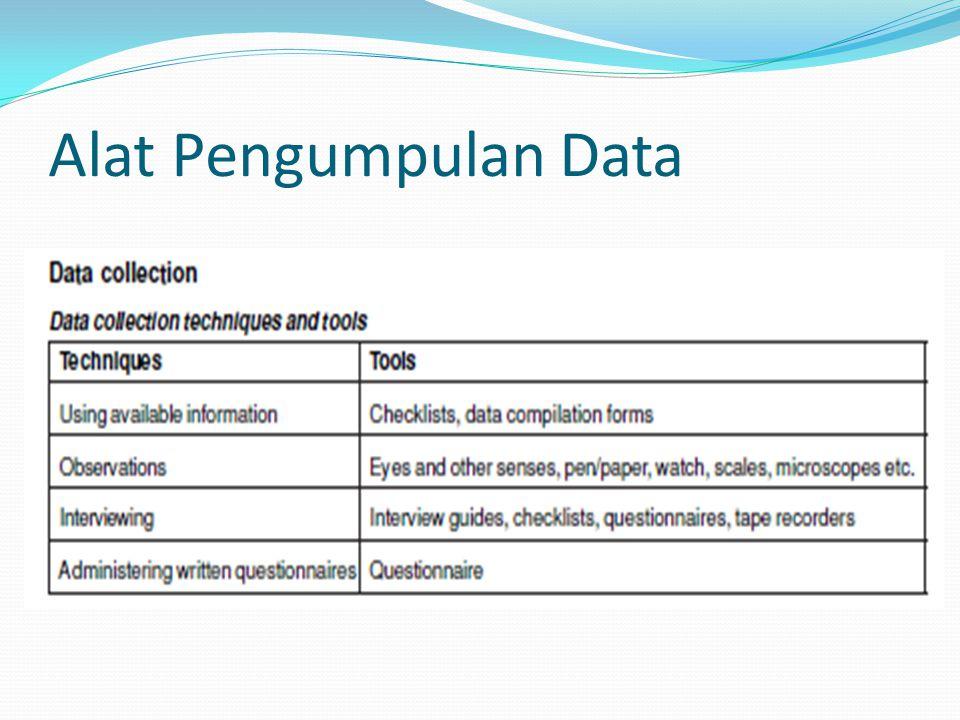 Alat Pengumpulan Data