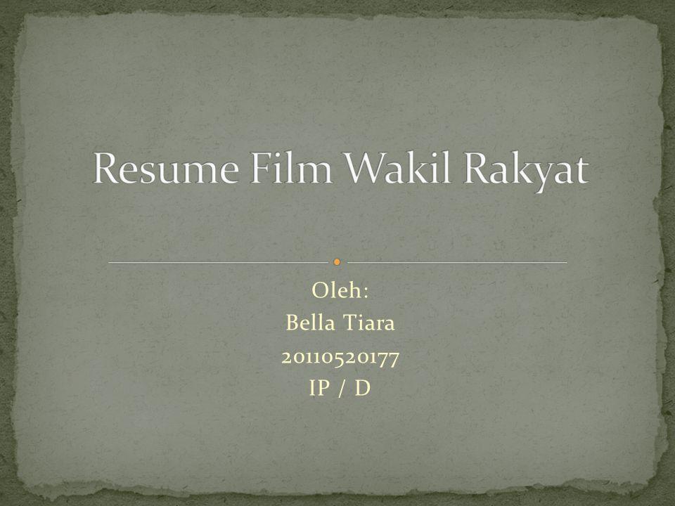 Resume Film Wakil Rakyat