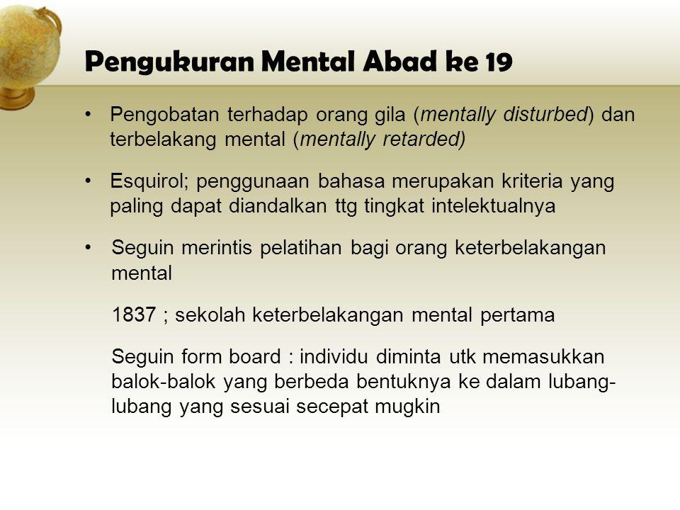 Pengukuran Mental Abad ke 19