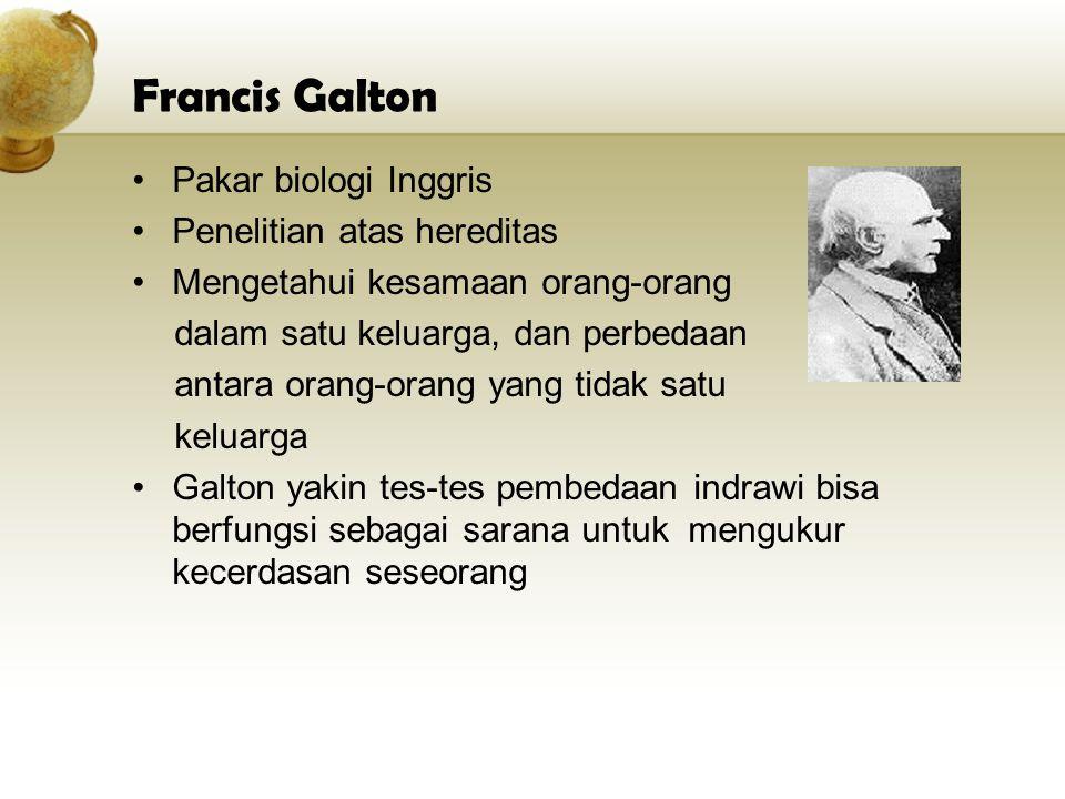Francis Galton Pakar biologi Inggris Penelitian atas hereditas
