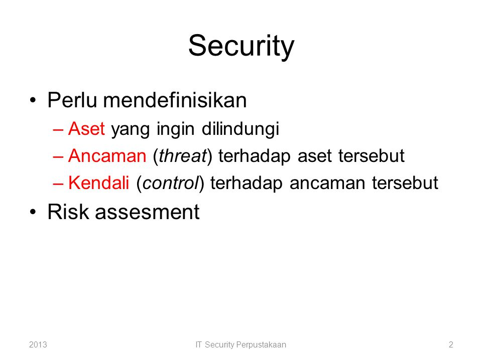 IT Security Perpustakaan