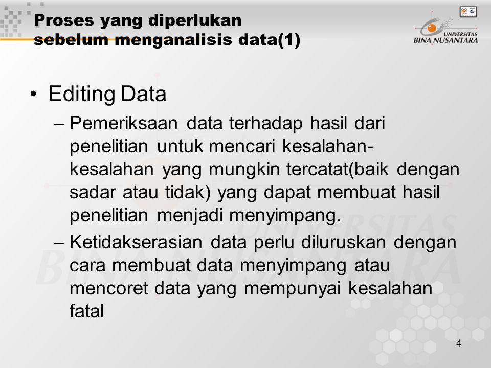Proses yang diperlukan sebelum menganalisis data(1)
