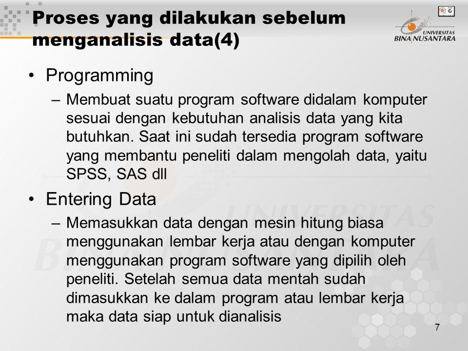 Proses yang dilakukan sebelum menganalisis data(4)
