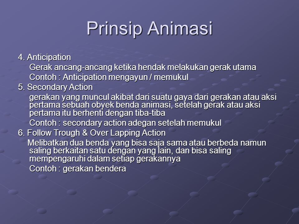 Prinsip Animasi 4. Anticipation