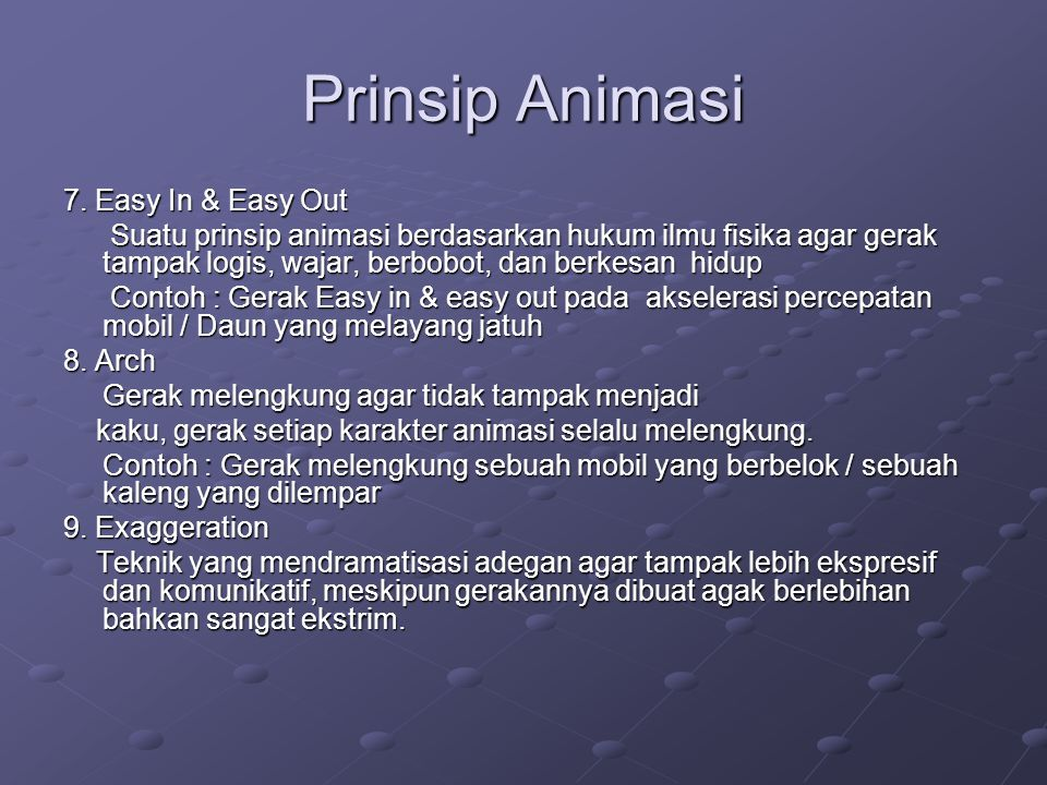 Prinsip Animasi 7. Easy In & Easy Out