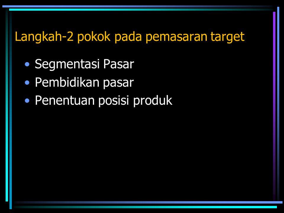 Langkah-2 pokok pada pemasaran target