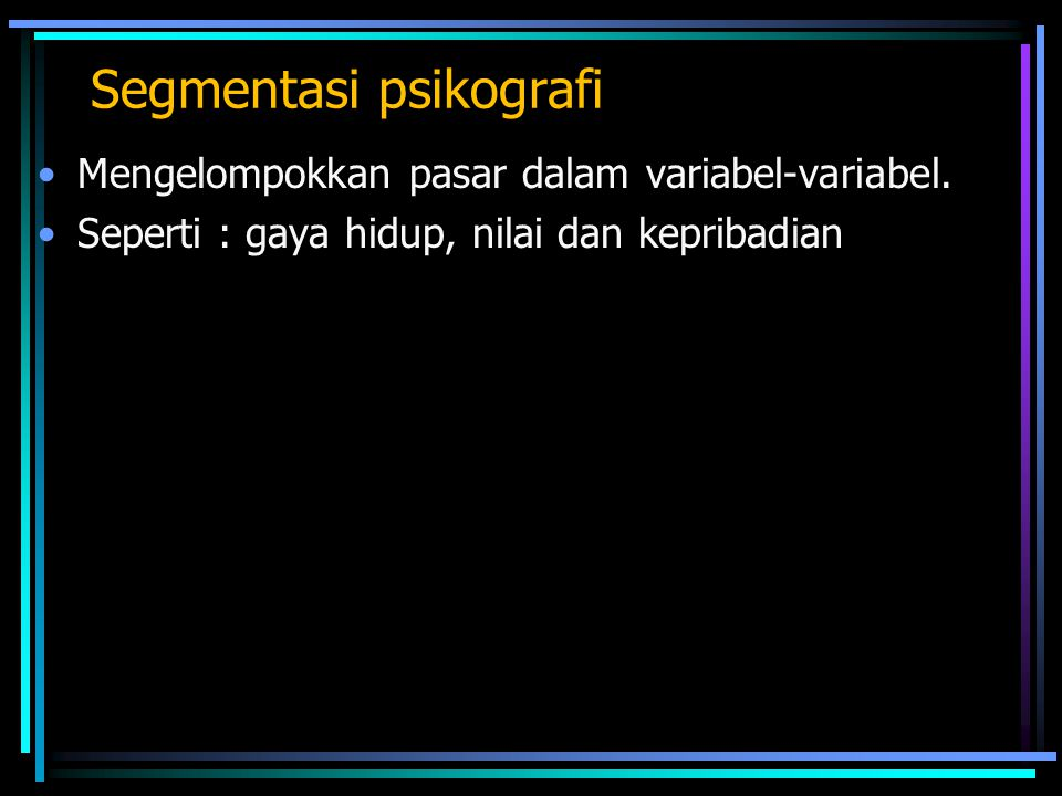 Segmentasi psikografi