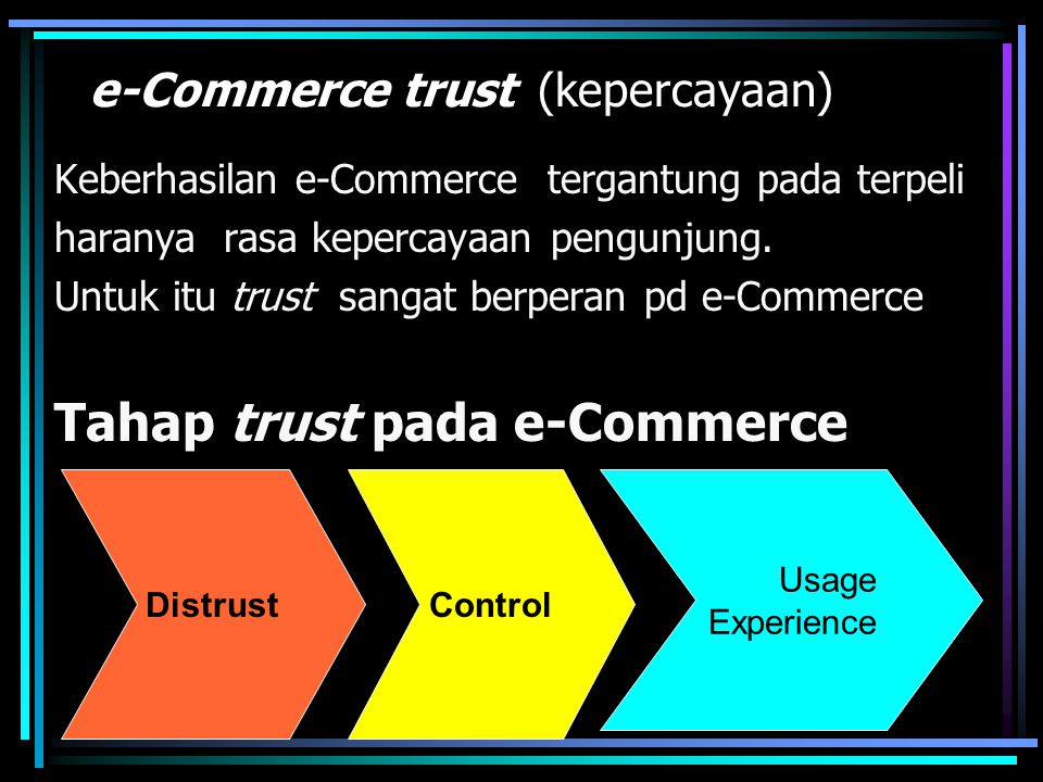 e-Commerce trust (kepercayaan)
