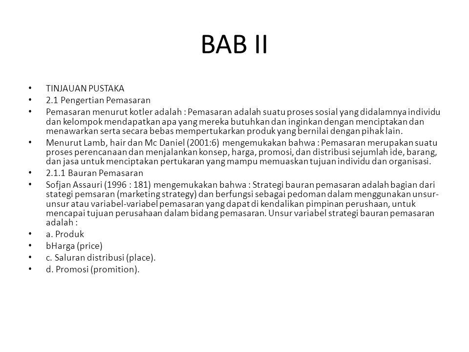 BAB II TINJAUAN PUSTAKA 2.1 Pengertian Pemasaran