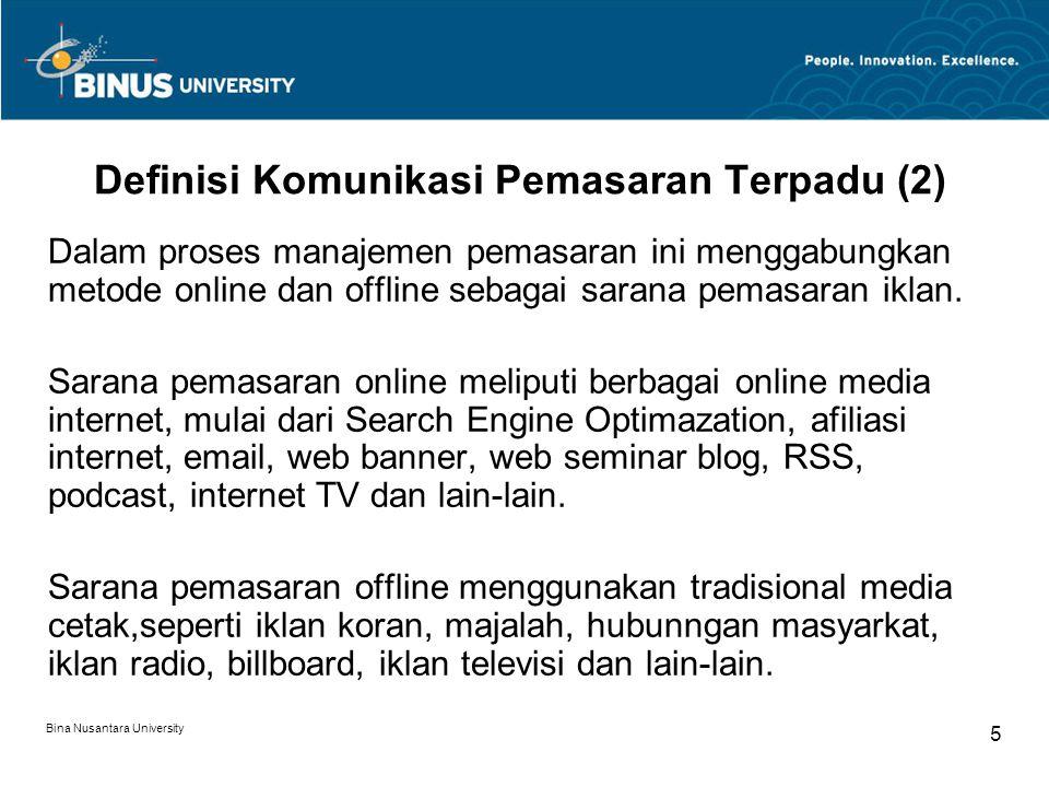 Definisi Komunikasi Pemasaran Terpadu (2)